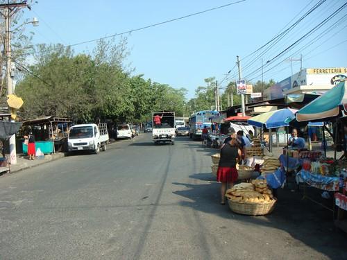 Acajutla town scene, El Salvador.