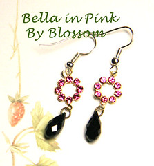 bella in pink -earrings (B132)