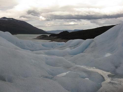 view from the glacier. Glaciar Perito Moreno