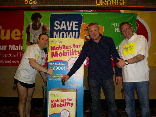 Actor Tommy Craig launches 'mobiles for mobility' at Sheffield Mecca Bingo for Whizz-Kidz