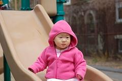 Aki down the slide