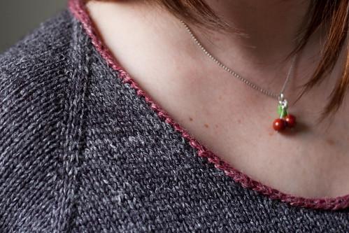 applied i-cord neckline