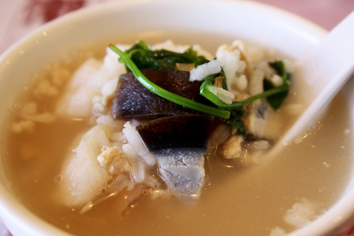 Congee with Preserved Duck Egg and White Fish