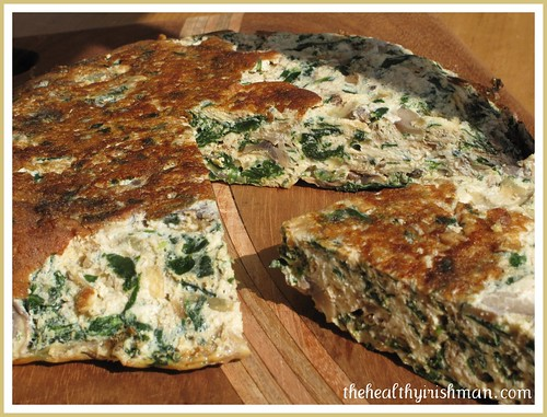 Spinach and Mushroom Fritatta