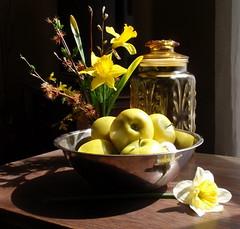 Still-life with daffodils 1 (edenseekr) Tags: apples daffodils stilllifecomposition