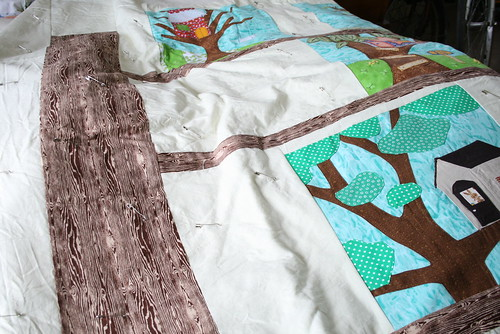 Tree House Quilt Progress