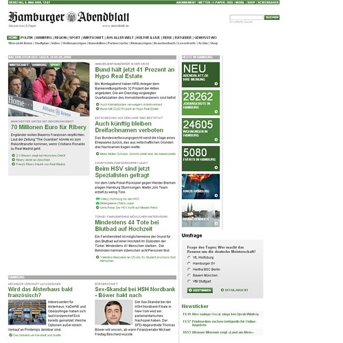 Redesign Hamburger Abendblatt