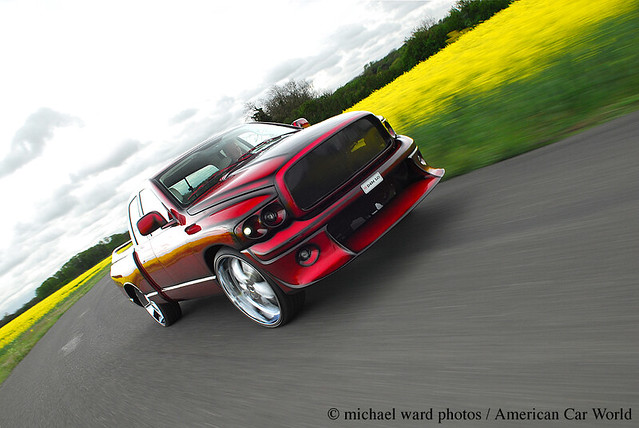 truck moving little pickup dodge 28 custom ram rims 1500 rolling tracking airfield pmc mwp staughton michaelwardphotos cartocar car2car autostyle americancarworld