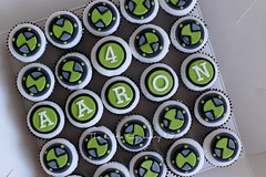 Ben 10 Watch Mini Cupcakes (TheLittleCupcakery) Tags: birthday cake cupcakes little ben 10 4 watch aaron cupcakery