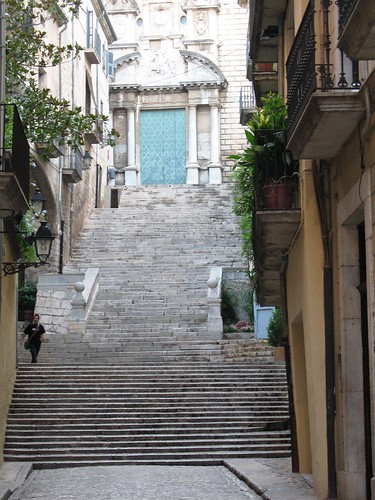 The Stairs of Barri Vell, Girona, Spain - 4