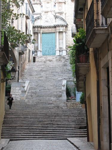 The Stairs of Barri Vell, Girona, Spain - 4