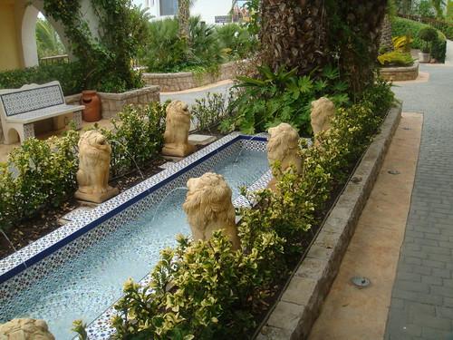 Jardines en el acceso al Hotel