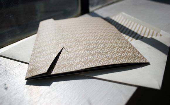 Beautiful Custom Lashar Invitation with Pocketfold