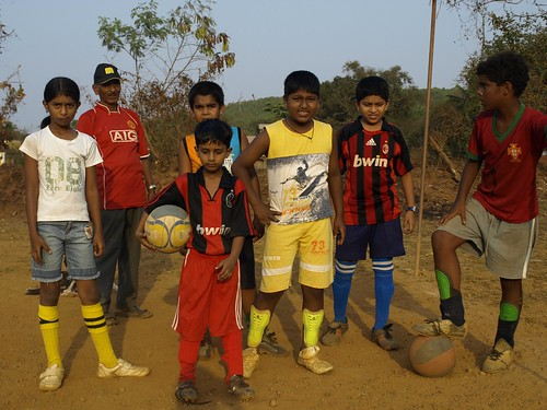 Kids football Saligao by fredericknoronha.