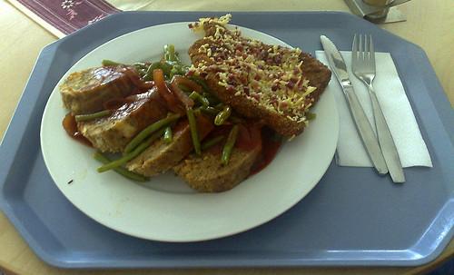 Käse-Schinken-Schnitzel mit Semmelknödeln