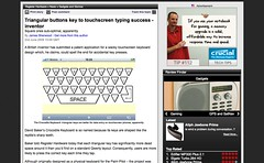 Triangular buttons key to touchscreen typing success - inventor • Register Hardware_1244168448364