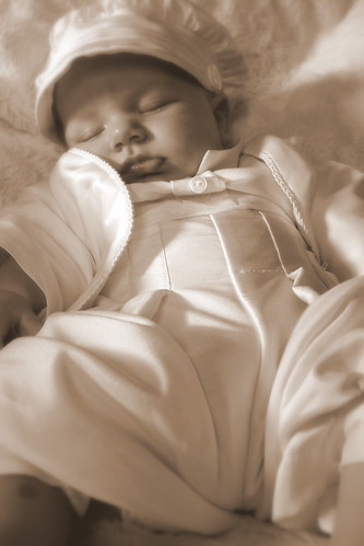 sepia sleeping babe