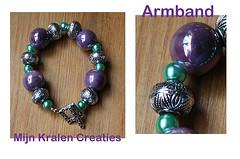 mijn kralen creaties (mijn-kralencreaties) Tags: groen paars keramiek handmademijnkralencreatieshandmadejuwelry