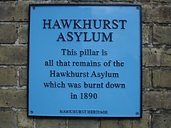 Photo of Hawkhurst Asylum blue plaque