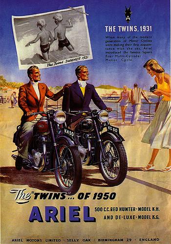 Ariel Twins of 1950