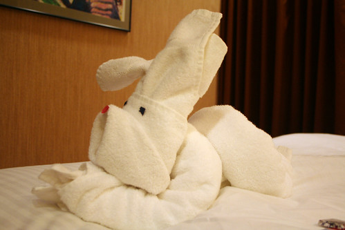 Carnival Towel Creation - Puppy-Bunny