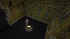 Burial Chamber and Wall Paintings KV62 at King Tut Virtual (Jon Himoff) Tags: avatar egypt explore immersive online sarcophagus mummy coffin pharoah valleyofthekings hieroglyphics anubis afterlife gibbon vx ancientworld metaverse kv62 rezzable heritagekey kingtutvirtual