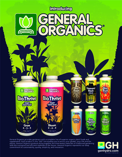 New Organic Nutrients from General Hydroponics - Nutrients and
