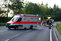 Schwerer Motorradunfall B54 19.06.09