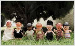 My Little Rascals (Voodoolady ) Tags: vintage toys doll hard plastic rattle knickerbocker