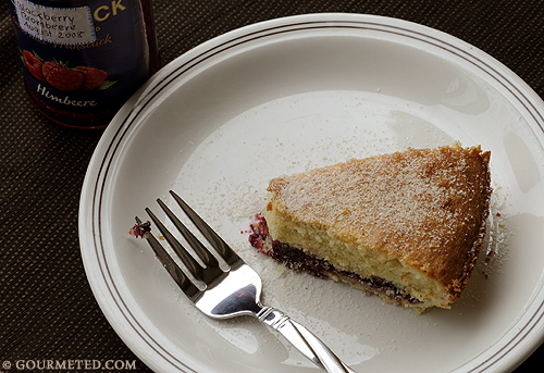 Bakewell Tart/Pudding with Homemade Blackberry Jam