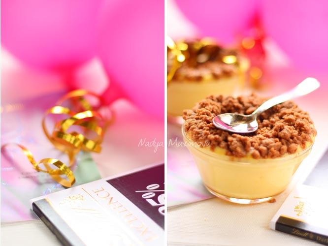 Творожная запеканка с шоколадной крошкой