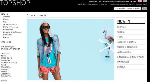 Moda verano 2009 tienda online Topshop