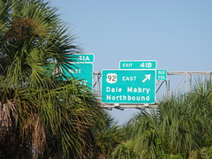 East Northbound (xvm) Tags: old sign tampa florida walmart arrow exit i275 dalemabry us92 41b 23a