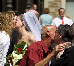 French kissing (woolyboy) Tags: wedding people france day boulogne sunny enjoying frenchkisses woolyboy