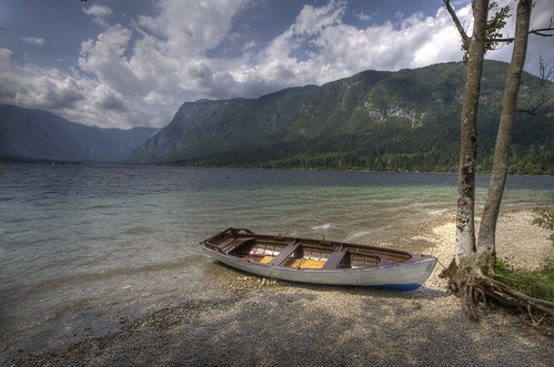 Boat at lake Bohinj (#2)