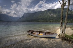 Boat at lake Bohinj (#2) (Bas Lammers) Tags: lake tree water canon boat slovenia bled soe hdr bohinj photomatix 50d yourwonderland mygearandmepremium mygearandmebronze mygearandmesilver mygearandmegold mygearandmeplatinum mygearandmediamond