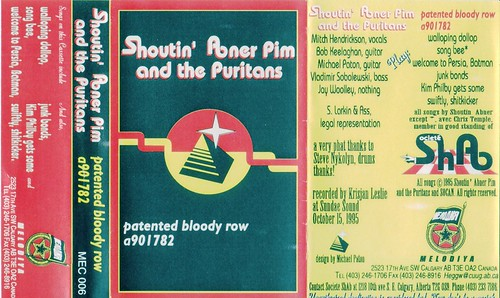 Shoutin' Abner Pim and the Puritans - Patented Bloody Row a901782