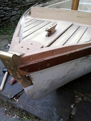 10ft Dinghy foredeck 2 (gondolier88) Tags: wood boat wooden oak traditional cleat mahogany dinghy grp planking iroko lugsail traditionaldinghy