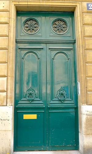 Teal Green Door