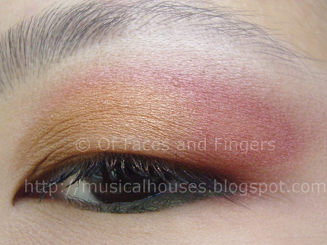 sunset orange red eye look 3