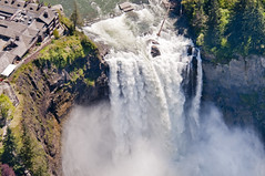 Aerial view of Snoqualmie Falls