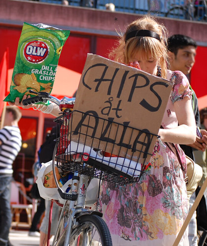 Protest mot prishöjningar!