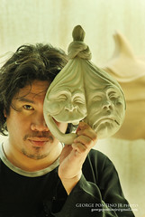 Two-faced Mystery (GeorgePontinoJr the Crystal Eye) Tags: horses sculpture horse mask saudi filipino trophy riyadh sculptor sculpting twofaced ofw graphicartist nataliononoyalob nataliononoyalobsculptingsculpturesculptorgraphicartistriyadhofwhorseshorsemasktwofacedtrophy