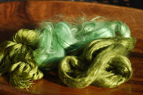 Green Silk threads and fibers by you.