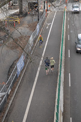 Separated bike-walk lane on Naito-4