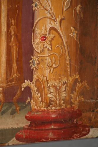 Decorated column fresco, Oplontis