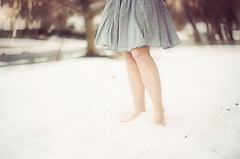 Some of us think holding on makes us strong; but sometimes it is letting go. (Ana Santos) Tags: winter snow cold skirt barefoot 52weeks anasantosphotography whyigrewoutmyhair thelovestories
