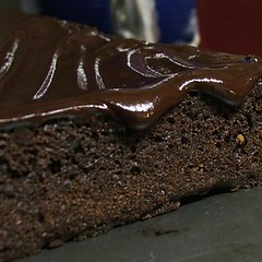 Brownies Topped with Ganache