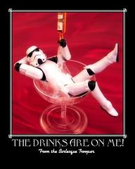 Star Wars Speakeasy. (waihey) Tags: starwars fdsflickrtoys wine drink champagne stormtrooper wineglass pour bubbly kinky hasbro speakeasy wi800