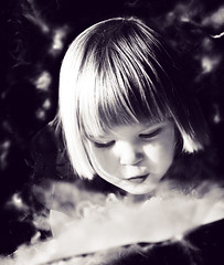 The Universe is full of magical things, patiently waiting for our wits to grow sharper. (Eden Philpotts) (Ekler) Tags: portrait bw white black art ice water girl face look mystery hair children u2 fun photo lyrics kid eyes child looking cheek artistic little quote song expression smoke magic tail daughter picture adorable dry blowing pic bowl lips blow blond mysterious smoky quite annamaria magical portrature evolt mysteriousways ekler farry oldschooldigital olympuse410 soloha